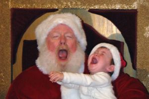 Not everybody is happy to see Santa Claus